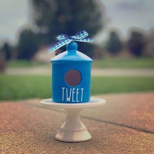 Mini blue TWEET birdhouse
